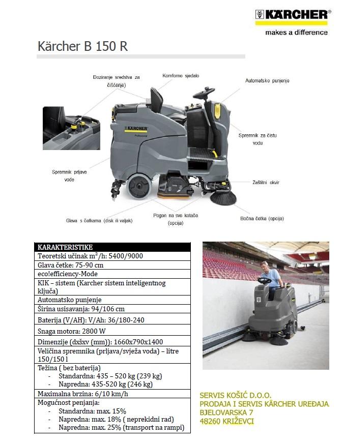 Novi model uređaja za ribanje i usisavanje B 150 R