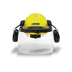 Komplet zaštitne kacige sa zaštitnim slušalicama i vizirom